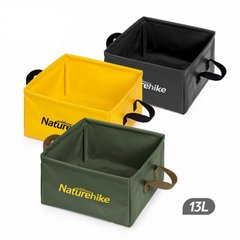 Ведро складное Naturehike Square bucket 13л NH19SJ007 Black
